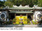The Marble Mountains, about 7km (4 miles) south of Danang, contain... (2016 год). Редакционное фото, фотограф David Henley / Pictures From History / age Fotostock / Фотобанк Лори