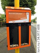 Berlin, Germany, Ballot Bin ashtray of BSR. Редакционное фото, агентство Caro Photoagency / Фотобанк Лори
