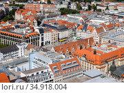 Old town, market place, Leipzig, Saxony, Germany. Редакционное фото, агентство Caro Photoagency / Фотобанк Лори