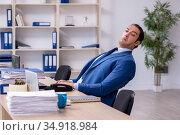 Businessman working in the office. Стоковое фото, фотограф Elnur / Фотобанк Лори