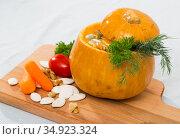 Image of Pumpkin soup. Стоковое фото, фотограф Яков Филимонов / Фотобанк Лори