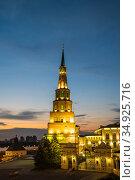Leaning Tower Syuyumbike (2018 год). Стоковое фото, фотограф Юлия Белоусова / Фотобанк Лори