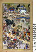 Farrukh Beg (ca. 1545 – ca. 1615) was a Persian born Mughal painter... (2015 год). Редакционное фото, фотограф Pictures From History / age Fotostock / Фотобанк Лори