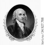 James Madison, Jr. (March 16, 1751 – June 28, 1836) was a political... (2014 год). Редакционное фото, фотограф Pictures From History / age Fotostock / Фотобанк Лори