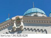 Фрагмент храма Илии Пророка в городе Саки, Крым. Стоковое фото, фотограф Николай Мухорин / Фотобанк Лори