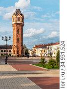 Водонапорная башня. Старая Русса, Новгородская область. Редакционное фото, фотограф Александр Щепин / Фотобанк Лори