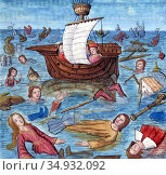 Noah's Ark (Biblical Hebrew: Tevat Noa?) is the vessel in the Genesis... (2017 год). Редакционное фото, фотограф Pictures From History / age Fotostock / Фотобанк Лори