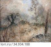Beck Julia - Vinterlandskap - Swedish School - 19th Century. Редакционное фото, фотограф Artepics / age Fotostock / Фотобанк Лори