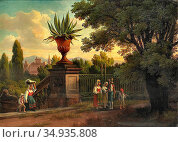 Palm Gustaf Wilhelm - Vue Från Villa Conti VID Rom - Swedish School... Редакционное фото, фотограф Artepics / age Fotostock / Фотобанк Лори