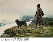 Tirén Johan - Same Med Hund 3 - Swedish School - 19th Century. Редакционное фото, фотограф Artepics / age Fotostock / Фотобанк Лори