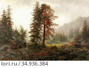 Torna Oscar - Jägare I Skogslandskap - Swedish School - 19th Century. Редакционное фото, фотограф Artepics / age Fotostock / Фотобанк Лори