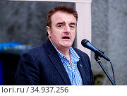 Tommy Sheppard, MP, Scottish National Party member of the UK parliament... (2016 год). Редакционное фото, фотограф Andrew Wilson / age Fotostock / Фотобанк Лори
