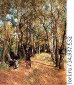 Ericson Johan - a Woodland Path in Haut Meudon - Swedish School - ... Редакционное фото, фотограф Artepics / age Fotostock / Фотобанк Лори