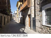Street in Molinaseca, Spain. Walking the Camino. Pilgrimage route... Стоковое фото, фотограф Andre Maslennikov / age Fotostock / Фотобанк Лори