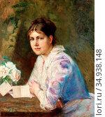 Keyser Elisabeth - Drömmerier - Swedish School - 19th Century. Редакционное фото, фотограф Artepics / age Fotostock / Фотобанк Лори