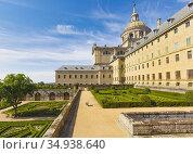 San Lorenzo de El Escorial, Comunidad de Madrid, Spain. The Royal... Стоковое фото, фотограф Ken Welsh / age Fotostock / Фотобанк Лори