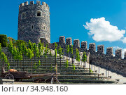 Akhaltsikhe, Georgia - June 13 2018: View of the Rabat Fortress in Georgia. Редакционное фото, фотограф Константин Лабунский / Фотобанк Лори