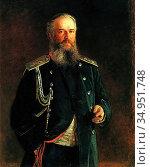 Ghe Nikolay - Portrait of Adam Olsufyev - Russian School - 19th Century... Стоковое фото, фотограф Artepics / age Fotostock / Фотобанк Лори