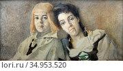 Vrubel Mikhail - Hansel and Gretel (Portrait of N. I. Zabela and ... Стоковое фото, фотограф Artepics / age Fotostock / Фотобанк Лори