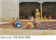 Zommer Richard Karlovich - Madrasah - Russian School - 19th Century. Стоковое фото, фотограф Artepics / age Fotostock / Фотобанк Лори