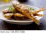 Fish,fish dish,goatfish. Стоковое фото, фотограф LFL / easy Fotostock / Фотобанк Лори