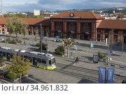 Gare ferroviaire de Saint-Etienne-Chateaucreux, Saint-Etienne, departement... Стоковое фото, фотограф Christian Goupi / age Fotostock / Фотобанк Лори