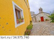 Chapel of San Ciprián, San Ciprián, San Cibrao, Cervo, Mariña Occidental... Стоковое фото, фотограф Alberto Carrera Anaya / easy Fotostock / Фотобанк Лори