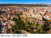 Fly over Almansa castle. City of Almansa. Spain. Стоковое фото, фотограф Яков Филимонов / Фотобанк Лори