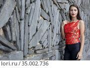 Aia Kruse poses for a photo session during the San Sebastian International... (2017 год). Редакционное фото, фотограф Nacho López / age Fotostock / Фотобанк Лори