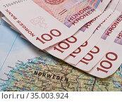 Norway,travel expenses,norwegian krone. Стоковое фото, фотограф Gk / easy Fotostock / Фотобанк Лори