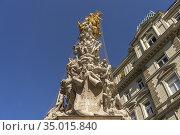 Die Wiener Pestsäule, Wien, Österreich, Europa | The Plague Column... Стоковое фото, фотограф Peter Schickert / age Fotostock / Фотобанк Лори