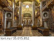 Prunksaal der Österreichischen Nationalbibliothek in Wien, Österreich... Стоковое фото, фотограф Peter Schickert / age Fotostock / Фотобанк Лори