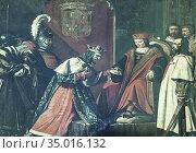 King Boabdil of Granada driven as prisioner to Ferdinand II of Aragon... Стоковое фото, фотограф Juan García Aunión / age Fotostock / Фотобанк Лори