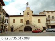Forcall, Town hall (16-17th centuries). Els Ports, Castellon, Comunidad... Стоковое фото, фотограф J M Barres / age Fotostock / Фотобанк Лори
