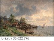 Torsslow Harald - Sommertag in Schweden - Swedish School - 19th Century... Редакционное фото, фотограф Artepics / age Fotostock / Фотобанк Лори