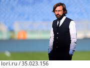 Andrea Pirlo head coach Juventus during the match ,Rome, ITALY-08... Редакционное фото, фотограф Federico Proietti / Sync / AGF/Federico Proietti / / age Fotostock / Фотобанк Лори