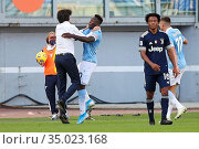 Felipe Caicedo (Lazio) celebrates the goal with Simone Inzaghi during... Редакционное фото, фотограф Federico Proietti / Sync / AGF/Federico Proietti / / age Fotostock / Фотобанк Лори