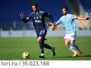 Rodrigo Bentancur (Juventus) , Danilo Cataldi (Lazio) during the ... Редакционное фото, фотограф Federico Proietti / Sync / AGF/Federico Proietti / / age Fotostock / Фотобанк Лори