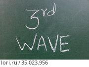 3rd Wave or Third Wave of Covorna Virus. Стоковое фото, фотограф Siraj Ahmad / easy Fotostock / Фотобанк Лори