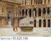 Brandeis, antonietta - Cortile del Palazzo Ducale with the Arco Foscari... Редакционное фото, фотограф Artepics / age Fotostock / Фотобанк Лори