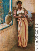 Roubtzoff Alexandre - Mannoubiyya - Portrait of a Tunisian Woman - ... Стоковое фото, фотограф Artepics / age Fotostock / Фотобанк Лори