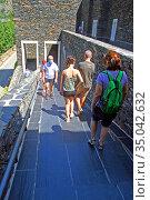 Access, stairway, Basilica, Santuariy, Nostra, Senyora, Meritxell... Редакционное фото, фотограф Alfred Abad / age Fotostock / Фотобанк Лори