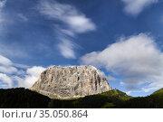 Sassolungo. Dolomites. Valgardena. Italy. Стоковое фото, фотограф Marco Brivio / age Fotostock / Фотобанк Лори