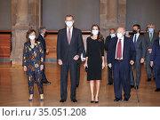 King Felipe VI of Spain, Queen Letizia of Spain attend the 'Francisco... Редакционное фото, фотограф Manuel Cedron / age Fotostock / Фотобанк Лори