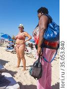 Beach life on Playa Tropicoco, Santa Maria La Habana, Cuba. (2016 год). Редакционное фото, фотограф Andre Maslennikov / age Fotostock / Фотобанк Лори