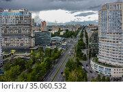Москва, Ломоносовский проспект, вид сверху (2020 год). Редакционное фото, фотограф glokaya_kuzdra / Фотобанк Лори
