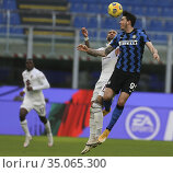 Simone Zaza (Torino) Alessandro Bastoni (Inter) during the match ,... Редакционное фото, фотограф Alberto Ramella / Sync / AGF/Alberto Ramella / Syn / age Fotostock / Фотобанк Лори