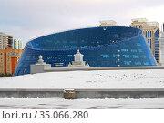 Kazakh National University of Arts in winter. Нур Султан, Казахстан. Редакционное фото, фотограф Валерия Попова / Фотобанк Лори