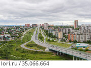 View of the bypass road between the city and the suburbs in Perm, Russia (2020 год). Редакционное фото, фотограф Евгений Харитонов / Фотобанк Лори