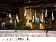 Interior of a modern cozy bulgarian restaurant. Редакционное фото, фотограф Евгений Ткачёв / Фотобанк Лори